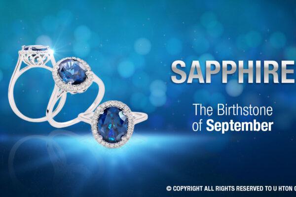 september birthstone sphhire , u hton goldsmith , myanmar